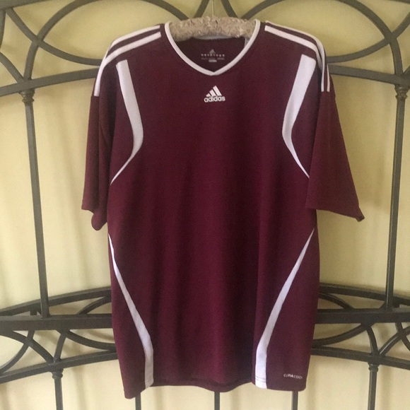017ae8124 adidas Other - Men s Adidas Climacool Maroon Soccer Jersey Size L